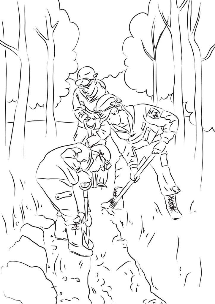 раскраска берегите лес от огня свобода